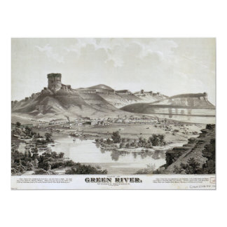 View of Green River, Wyoming Territory (1875) Card