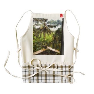 View of greenery outside zazzle HEART apron