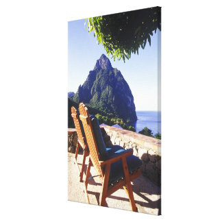 View of Gros Piton from Stonefield Estate Villa Canvas Print