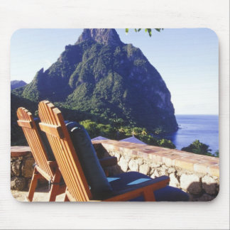 View of Gros Piton from Stonefield Estate Villa Mouse Pad
