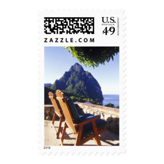 View of Gros Piton from Stonefield Estate Villa Postage Stamp