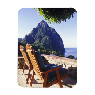 View of Gros Piton from Stonefield Estate Villa Rectangular Photo Magnet