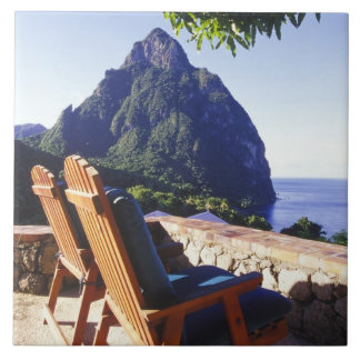 View of Gros Piton from Stonefield Estate Villa Tile