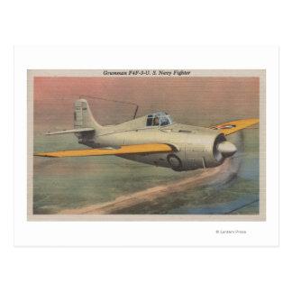 View of Grumman F4F-3-U.S. Navy Fighter Postcard