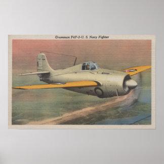 View of Grumman F4F-3-U.S. Navy Fighter Posters