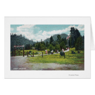 View of Guests on a Stroll through the Grounds Card