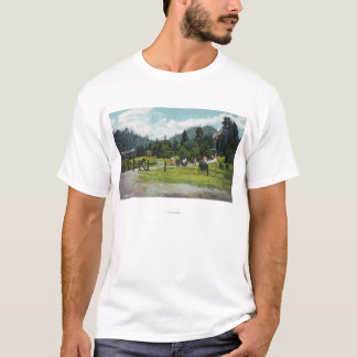 View of Guests on a Stroll through the Grounds T-Shirt