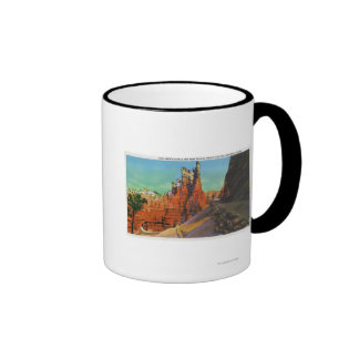 View of Gulliver's Castle and New Trails Ringer Mug