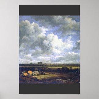 View Of Haarlem By Ruisdael Jacob Isaacksz. Van (B Poster