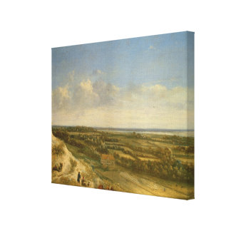 View of Haarlem from the Dunes (oil on canvas) Canvas Print