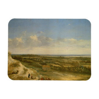View of Haarlem from the Dunes (oil on canvas) Magnet