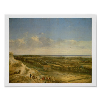 View of Haarlem from the Dunes (oil on canvas) Poster