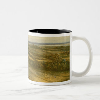 View of Haarlem from the Dunes (oil on canvas) Two-Tone Coffee Mug