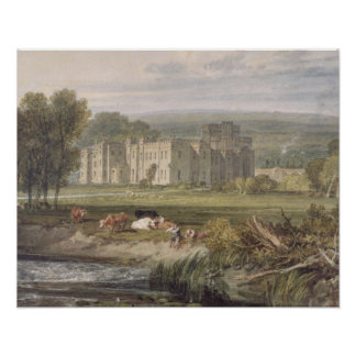 View of Hampton Court, Herefordshire, from the sou Poster