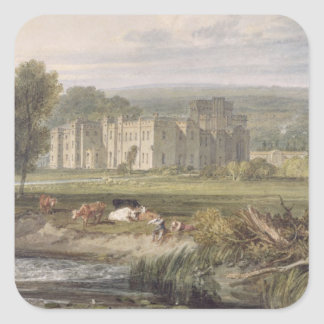 View of Hampton Court, Herefordshire, from the sou Square Sticker