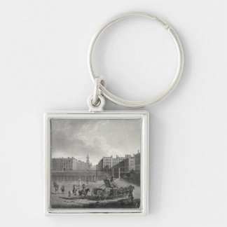 View of Hanover Square, engraved by Robert Pollard Keychain