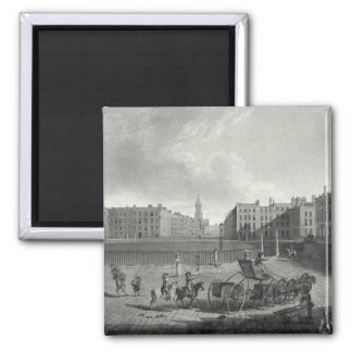 View of Hanover Square, engraved by Robert Pollard Magnet