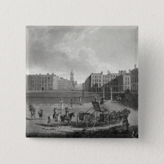 View of Hanover Square, engraved by Robert Pollard Pinback Button