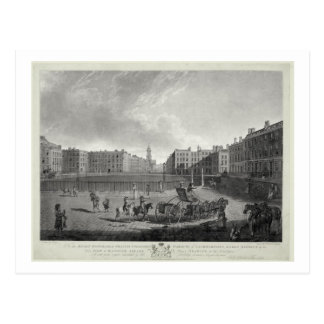 View of Hanover Square, engraved by Robert Pollard Postcard