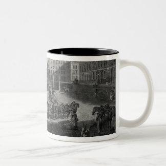 View of Hanover Square, engraved by Robert Pollard Two-Tone Coffee Mug