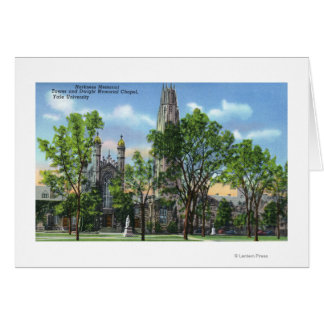 View of Harkness Memorial Tower, Dwight Chapel Greeting Card
