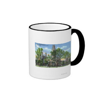 View of Harkness Memorial Tower, Dwight Chapel Coffee Mug