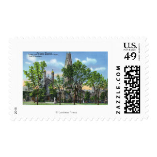 View of Harkness Memorial Tower, Dwight Chapel Postage Stamps