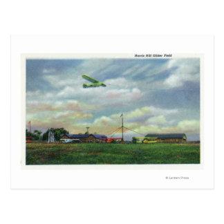 View of Harris Hill Glider Field, Glider in Postcard