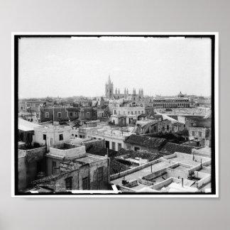 View of Havana, Cuba 1904 Vintage Poster