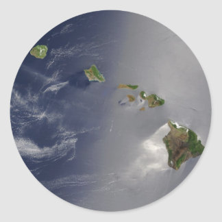 View of Hawaii from Space Classic Round Sticker