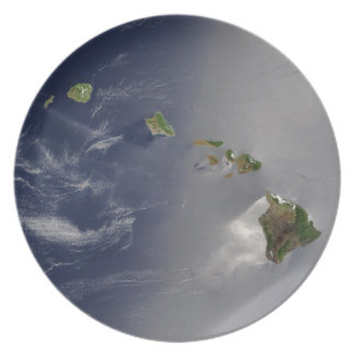 View of Hawaii from Space Melamine Plate