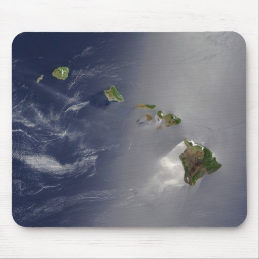 View of Hawaii from Space Mousepad
