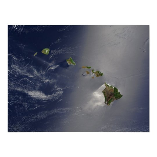 View of Hawaii from Space Poster