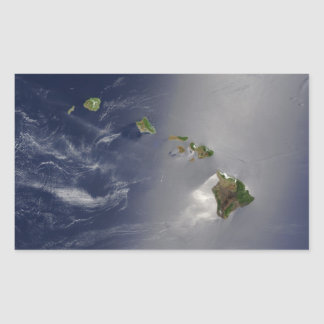 View of Hawaii from Space Rectangular Sticker