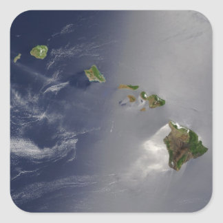 View of Hawaii from Space Square Sticker