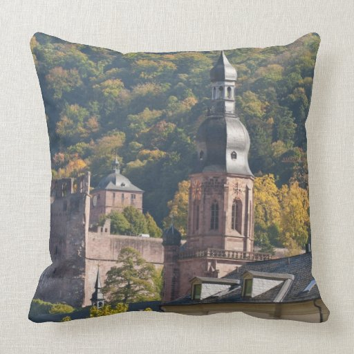 View of Heidelberg's Old Town 2 Throw Pillow