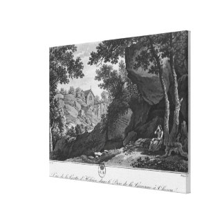View of Heloise grotto the park La Garenne Canvas Print