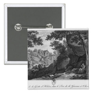 View of Heloise grotto the park La Garenne Pinback Button