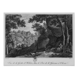 View of Heloise grotto the park La Garenne Poster