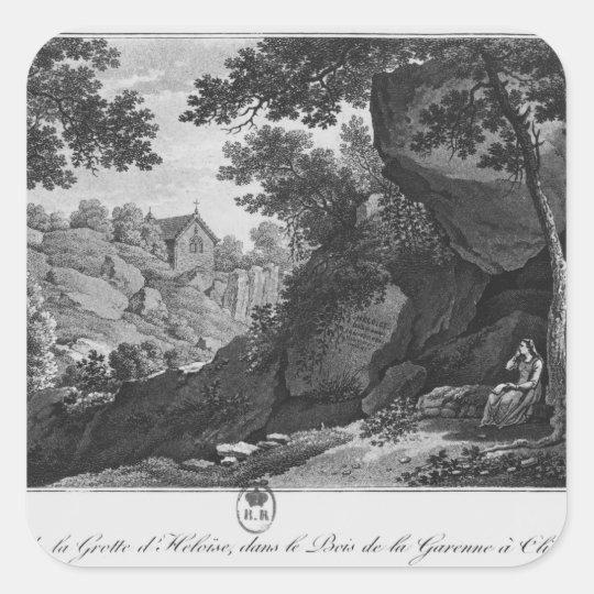 View of Heloise grotto the park La Garenne Square Sticker