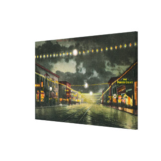 View of Hewitt Avenue at Night Canvas Print