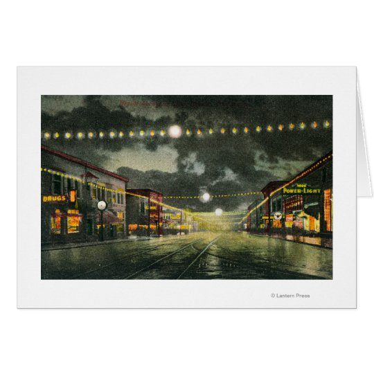 View of Hewitt Avenue at Night Card