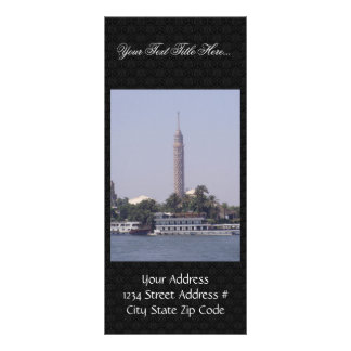 View Of High Cairo Tower Rack Card Template