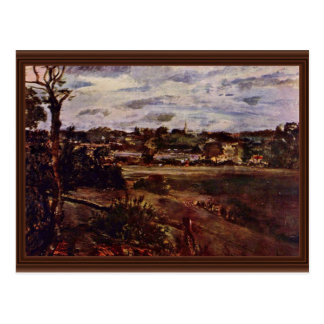View Of Highgate By Constable John (Best Quality) Postcard