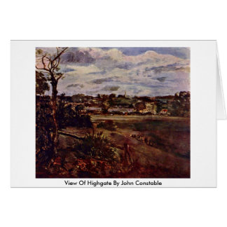 View Of Highgate By John Constable Greeting Card