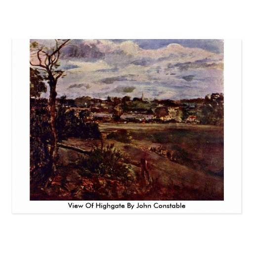 View Of Highgate By John Constable Postcard
