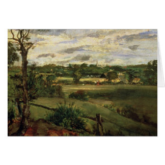 View of Highgate from Hampstead Heath, c.1834 Card