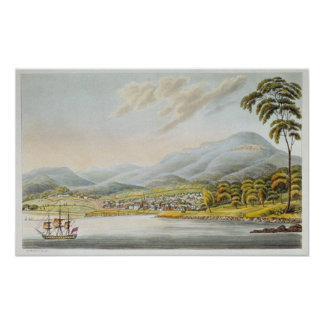 View of Hobart Town, 1824 Poster