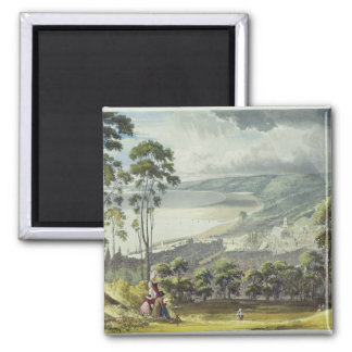 View of Honfleur, from 'Views on the Seine', engra 2 Inch Square Magnet