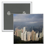 View of Hong Kong from The Peak 2 Inch Square Button